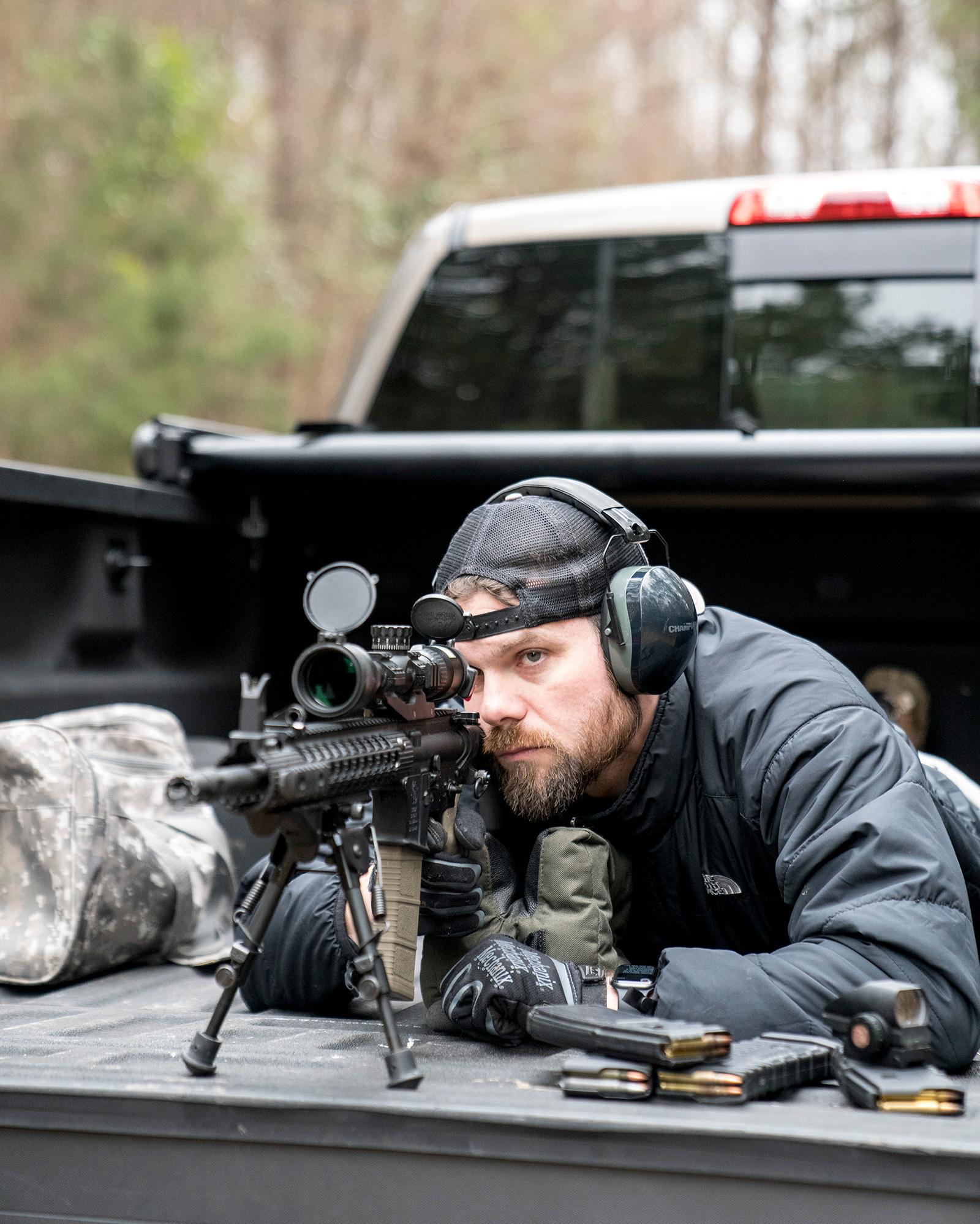 Phillip shooting AR-15